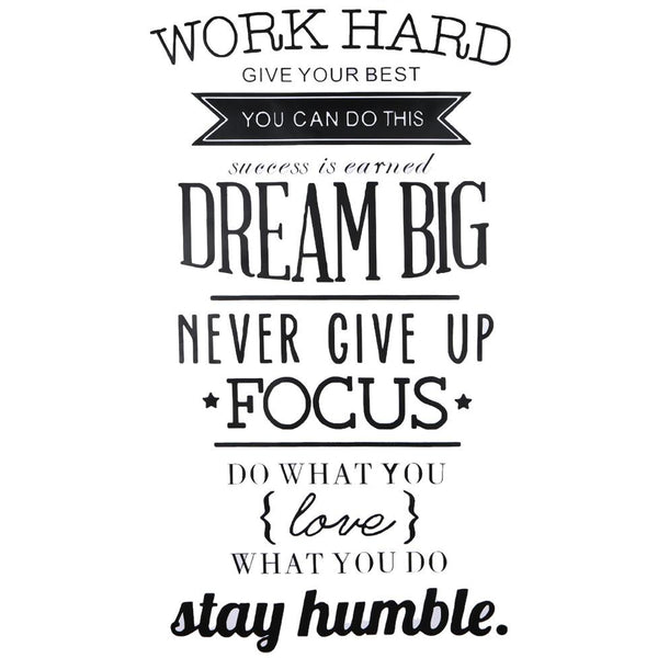 Work Hard Wall quotes,motivational poster Letras Office Home decor Wall Art,letters Stickers 56 X 100cm | Poster - Deskspo