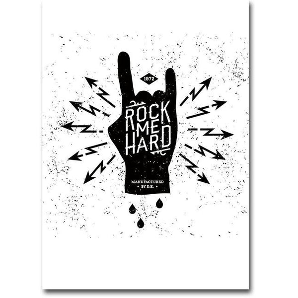 Rock me Hard Canvas Poster | Poster - Deskspo
