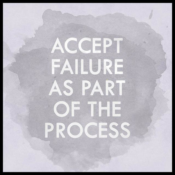 Watercolour Poster - Accept Failure as Part of the Process | Poster - Deskspo