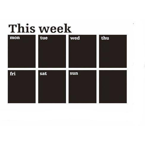 Blackboard Weekly Planner Wall Decal | Blackboard - Deskspo