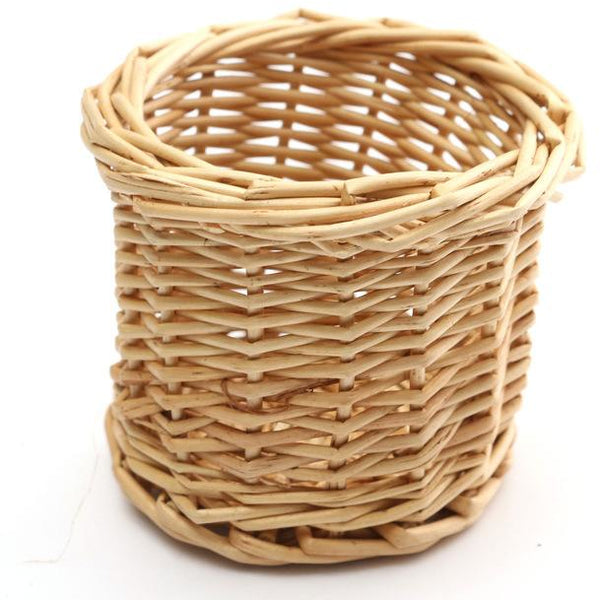 Wicker Desktop Holder | Pen Holder - Deskspo