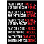 Watch Your Thoughts Wall Sticker | Poster - Deskspo