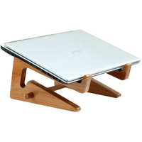 Wooden Laptop Holder and Stand | Laptop Stand - Deskspo
