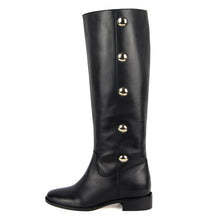 Amarillide, black - wide calf boots, large fit boots, calf fitting boots, narrow calf boots