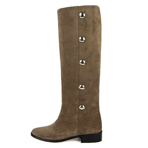 Amarillide suede, sand - wide calf boots, large fit boots, calf fitting boots, narrow calf boots