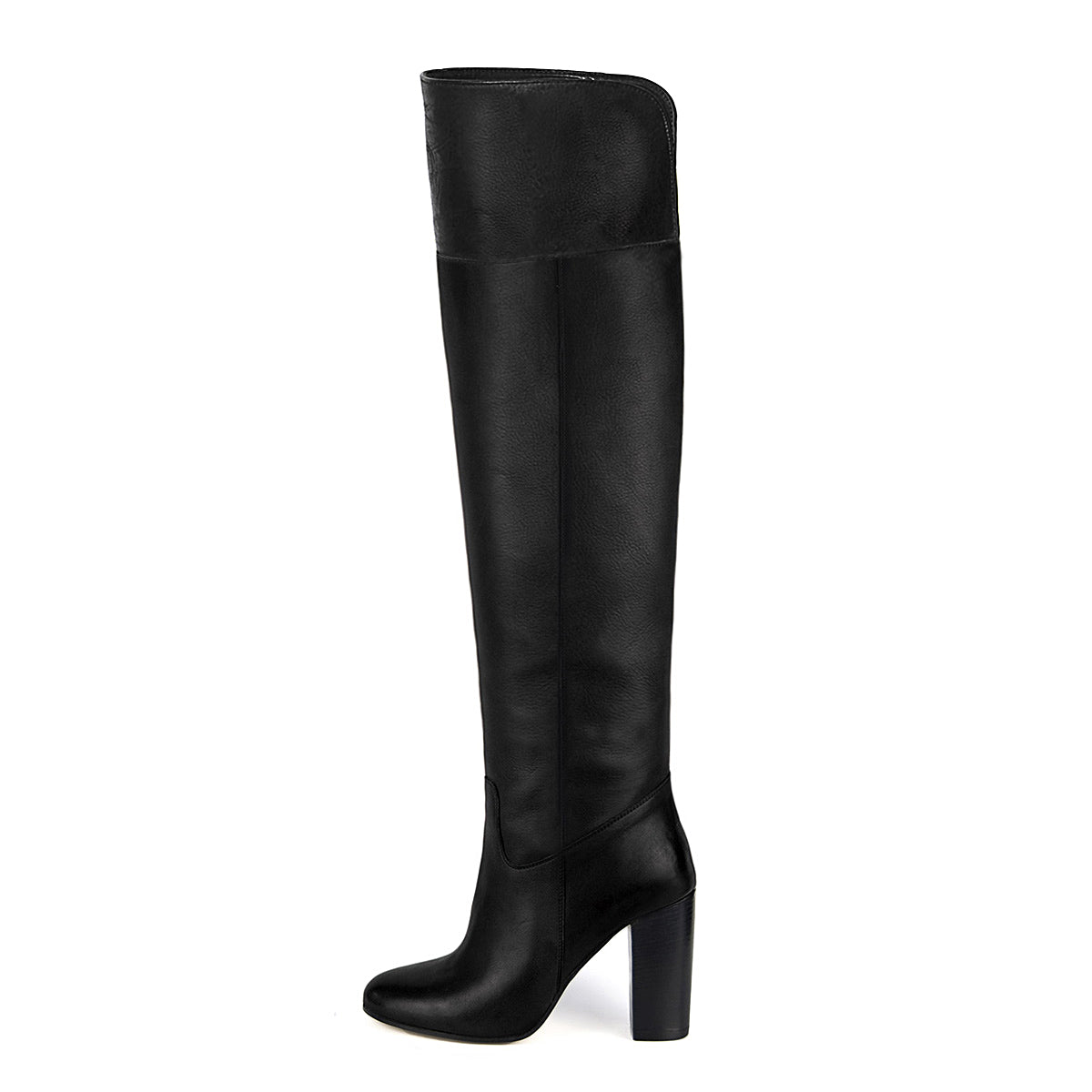 Lunaria, black - wide calf boots, large fit boots, calf fitting boots, narrow calf boots