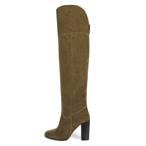 Lunaria suede, sand - wide calf boots, large fit boots, calf fitting boots, narrow calf boots