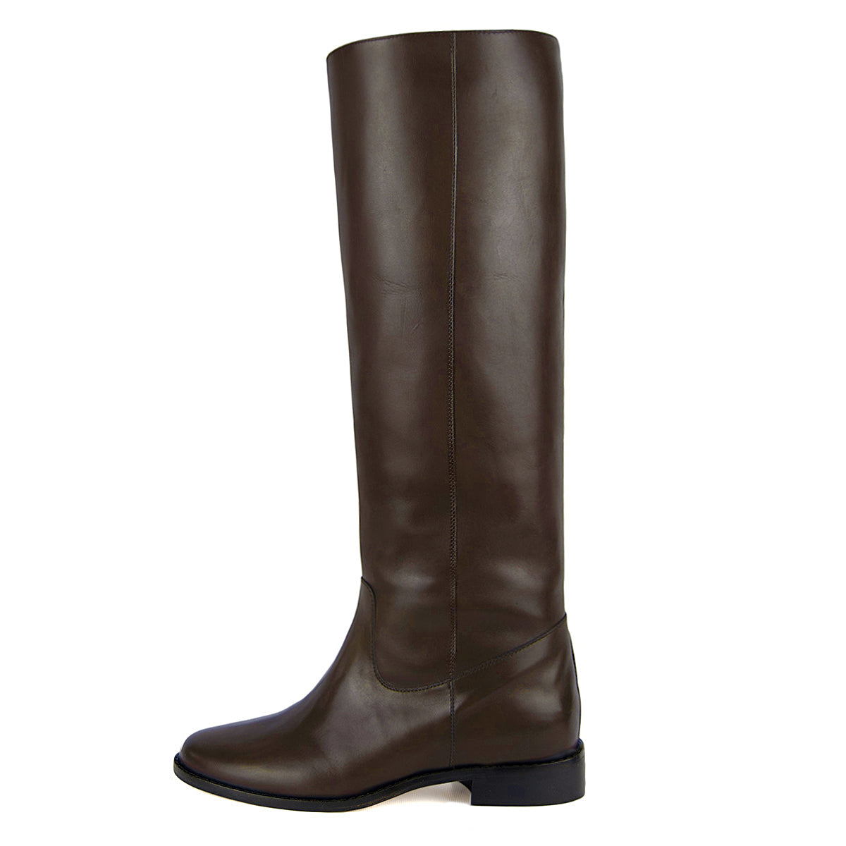 Dalia, dark brown - wide calf boots, large fit boots, calf fitting boots, narrow calf boots