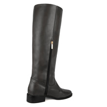 Dalia, grey - wide calf boots, large fit boots, calf fitting boots, narrow calf boots