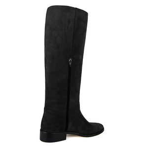 Dalia suede, black - wide calf boots, large fit boots, calf fitting boots, narrow calf boots