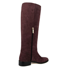 Amarillide suede, burgundy - wide calf boots, large fit boots, calf fitting boots, narrow calf boots