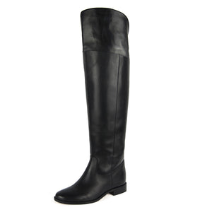 Mora, black - wide calf boots, large fit boots, calf fitting boots, narrow calf boots