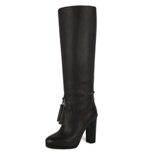 Trillium, dark brown - wide calf boots, large fit boots, calf fitting boots, narrow calf boots
