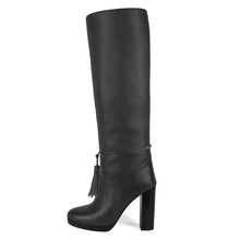 Trillium, grey - wide calf boots, large fit boots, calf fitting boots, narrow calf boots
