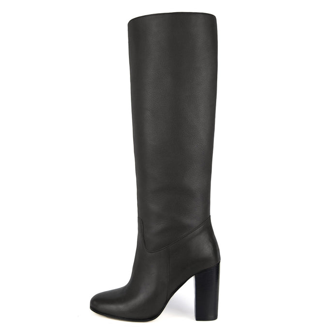 Cosmea, grey - wide calf boots, large fit boots, calf fitting boots, narrow calf boots