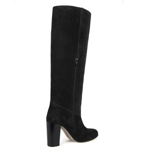 Cosmea suede, black - wide calf boots, large fit boots, calf fitting boots, narrow calf boots