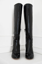 Lux, black - wide calf boots, large fit boots, calf fitting boots, narrow calf boots