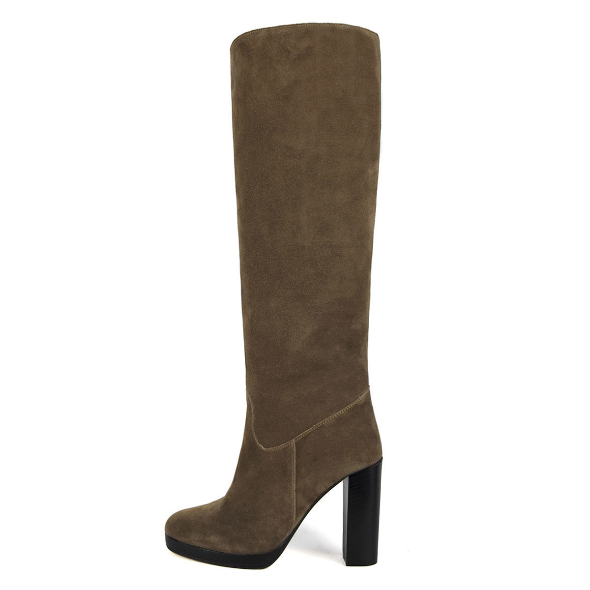 Ribes suede, sand - wide calf boots, large fit boots, calf fitting boots, narrow calf boots
