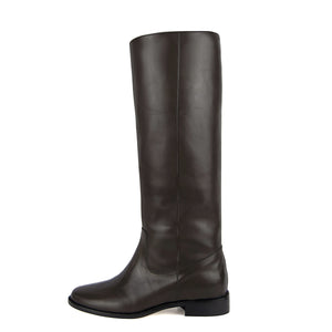Achillea, brown - wide calf boots, large fit boots, calf fitting boots, narrow calf boots