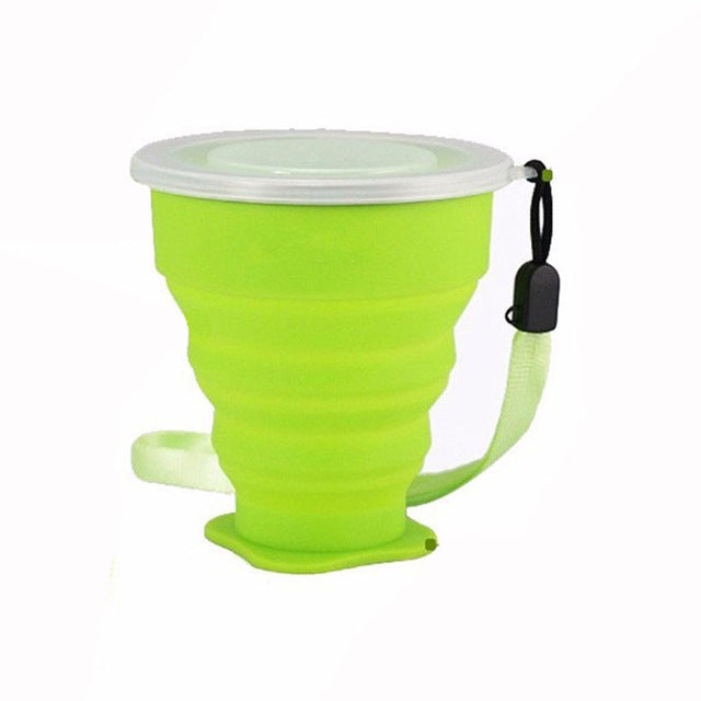 New Fashion Travel Silicone Retractable Folding Cup Outdoor Telescopic Collapsible Cups H1