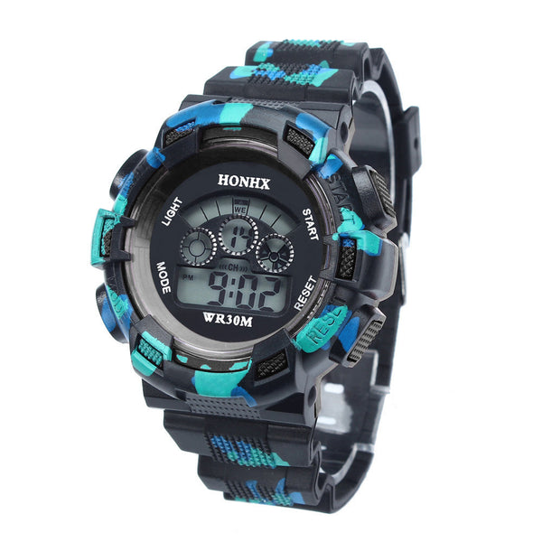Hot Sale 2017 Cool Sports Mens Boys Digital Watches for kids Waterproof LED Quartz Alarm Date Wrist Watch Relogio Masculino
