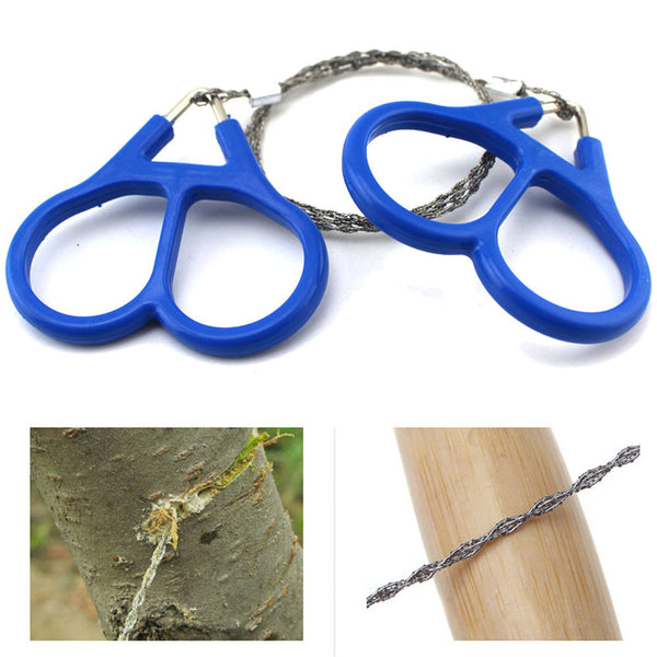 Survival- Wire Saw-Stainless Steel Outdoor Multi Tools Emergency Pocket Chain Saw for Survival and Outdoor Living