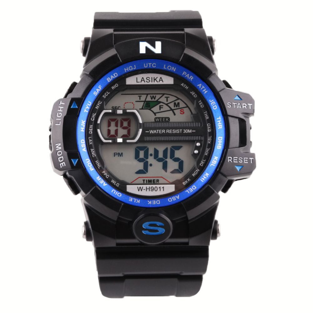 Men Quartz Digital Sports Watches Military Silicone Waterproof Wristwatche
