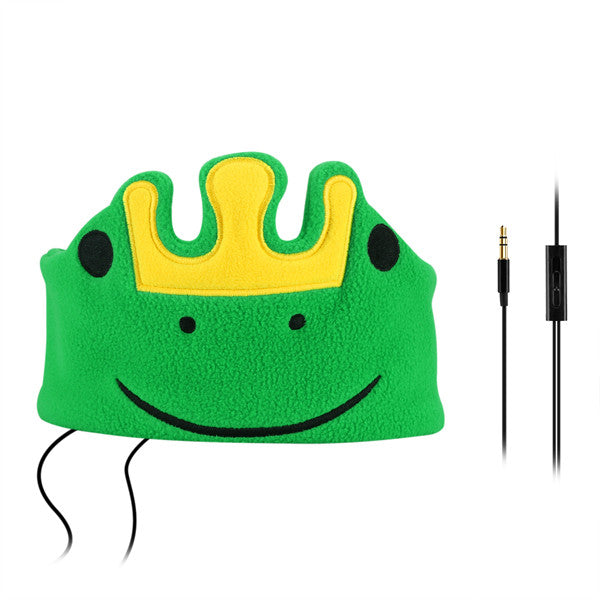 FORNORM Children Headband Earphones Soft Safe Headphone Child Cartoon Sleep Headphone Flannel Kids Music Headset For Music Study