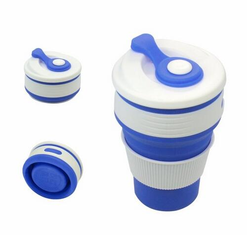Coffee Cup- Travel Collapsible Silicone Portable Tea Cup for Outdoors Camping Hiking Picnic Folding Office Water Mugs BPA Free