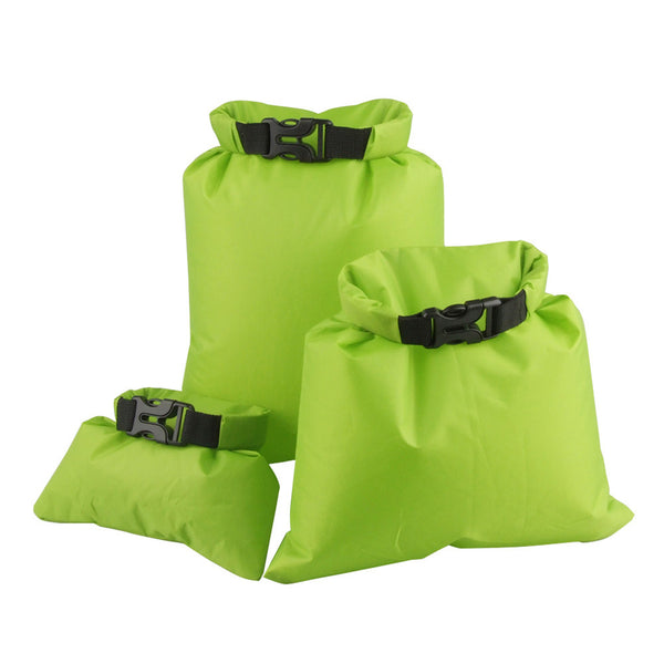 Pack of Three Waterproof Dry Bags for Camping, Beach Trips, Surfing, Damp Wetsuits, Boating Kayaking Rafting Fishing (1.5L+2.5L+3.5L)