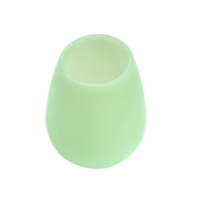 Unbreakable Silicone Wine Cup Unbreakable Foldable Shatterproof Party Cups for Travel Picnic Soft Collapsible Stemless Beer