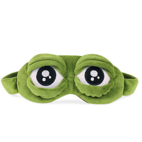Kids Plush Sleeping Eye Mask with Cute Crocodile Eyes- Perfect for Travel and Camping