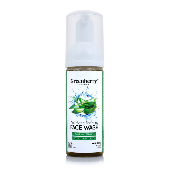 Anti-Acne Foaming Face Wash - Greenberry Organics