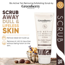 Bio Active Tan Removing Exfoliating Scrub for Pigmentation, Tan Removal & Skin Brightening - New - 120 Grams - Greenberry Organics