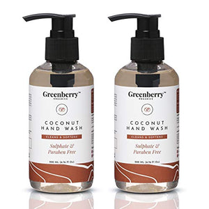 Greenberry Organics Coconut Hand Wash - 200ML - Pack of 2