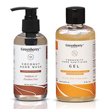 Greenberry Coconut Hand Wash and Community Hand Sanitizing Gel (200ml + 200ml)