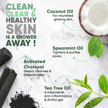 Detox Activated Charcoal Soap Bar Tea Tree & Spearmint Oil - Greenberry Organics