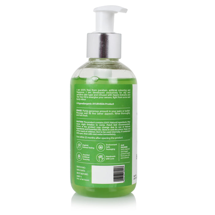 Neem & Tea Tree Anti-Acne Body Wash Gel - Greenberry Organics