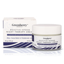 Bio Active Intense Night Cream for Pigmentation, Anti - Ageing & Wrinkles with Hyaluronic Acid - Pack of 2 - Greenberry Organics