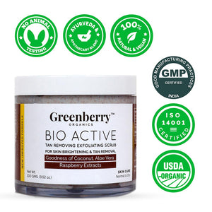 Bio Active Tan Removing Exfoliating Scrub - Greenberry Organics