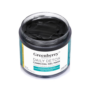 Daily Detox Charcoal Gel Mask - Pack of 2 - Greenberry Organics