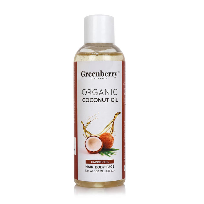 Organic Coconut Oil - 100ML - Greenberry Organics
