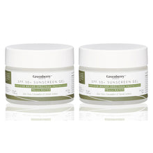 Greenberry Organics SPF 50+ Sunscreen Gel with UVA/UVB Broad Spectrum Protection, PA+++ For Men & Women, Aloe Vera, Cucumber & Neroli Actives, All Skin Types, 50 Gms Pack Of 2 - Greenberry Organics