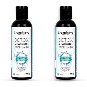 Detox Charcoal Face Wash - Pack of 2