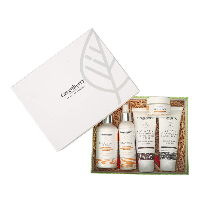 Greenberry Organics Sun Defense Box with 5 Full Size Products (All Skin Types) - Greenberry Organics