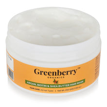 Argan, Biotin & Shea Butter Hair Mask - Greenberry Organics