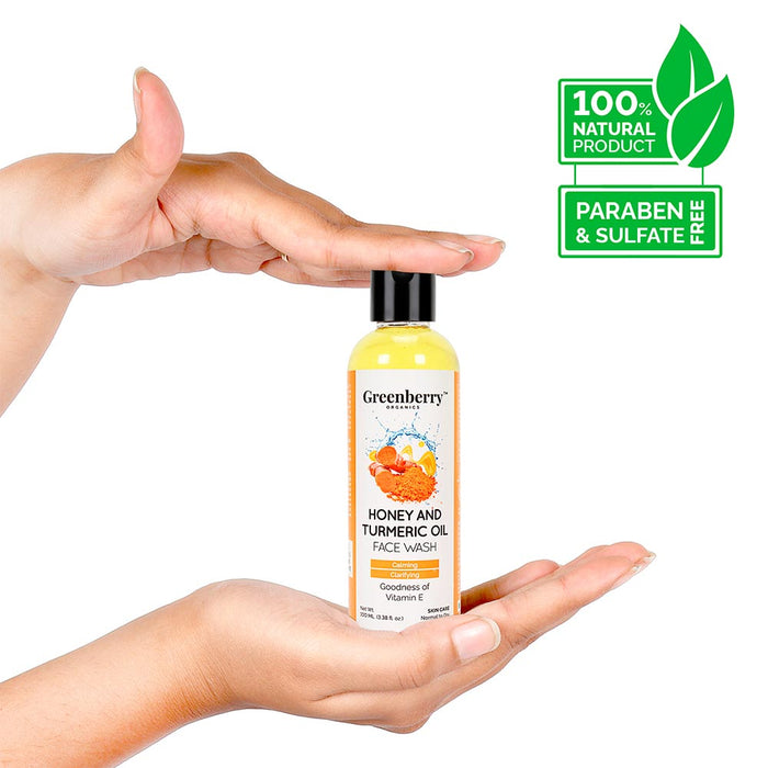 Honey and Turmeric Oil Face Wash - Greenberry Organics