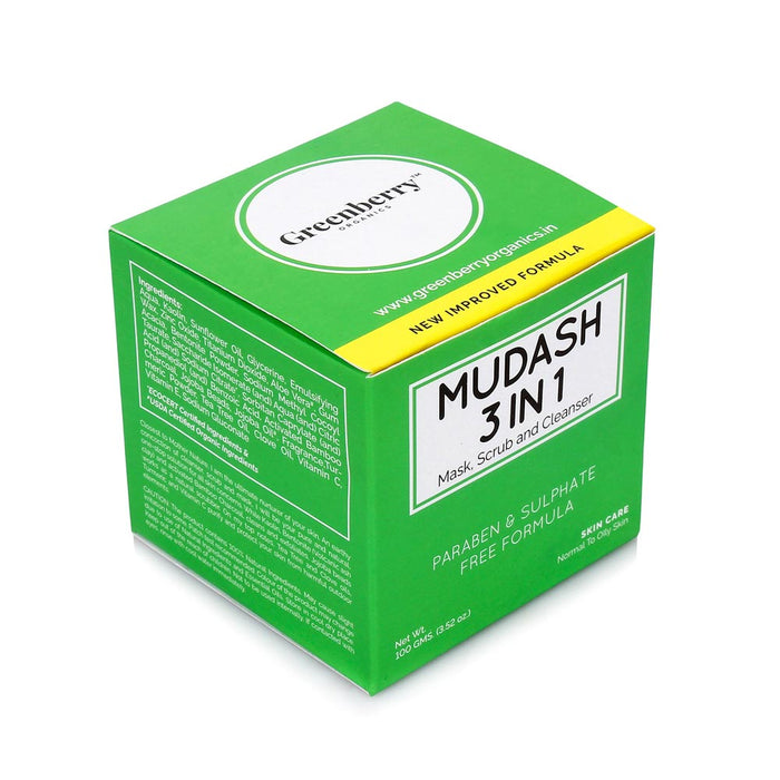 Mudash 3 In 1 - Face Mask, Scrub and Cleanser™ - Greenberry Organics
