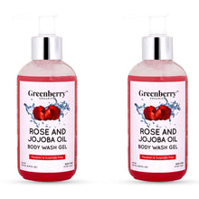 Rose & Jojoba Oil Body Wash Gel - Pack of 2