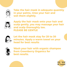 Argan, Biotin & Shea Butter Hair Mask for Shiny, Longer Hair & Healthy Scalp - Greenberry Organics